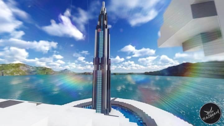 Futuristic Palace V2 minecraft building ideas download sea water tower amazing 6
