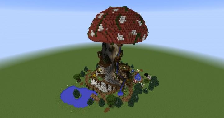 Giant Fantasy Mushroom minecraft building ideas download inspiration 2