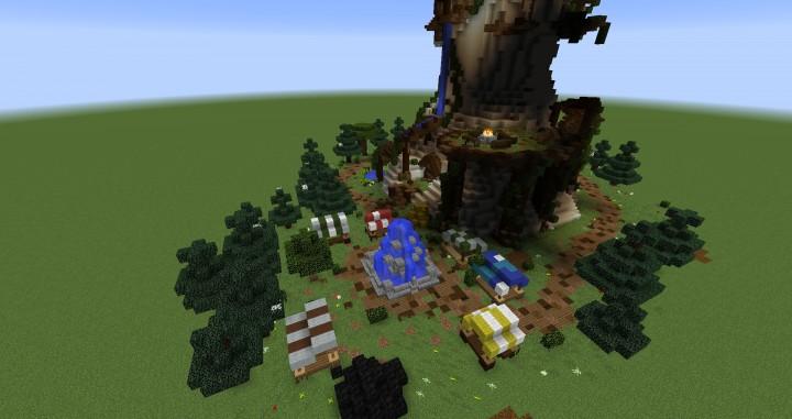 Giant Fantasy Mushroom minecraft building ideas download inspiration 3