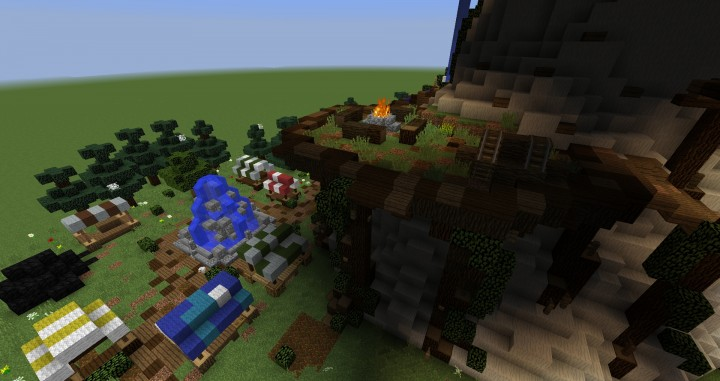 Giant Fantasy Mushroom minecraft building ideas download inspiration 6