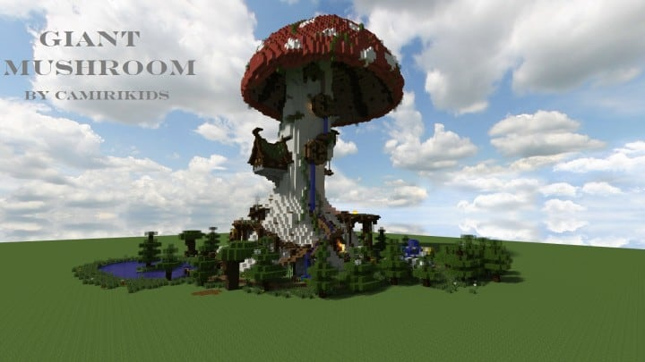 Giant Fantasy Mushroom minecraft building ideas download inspiration