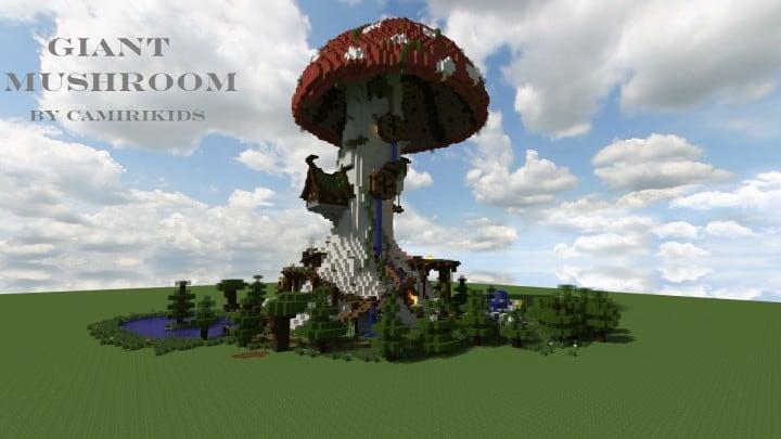 Giant Fantasy Mushroom minecraft building ideas download inspiration