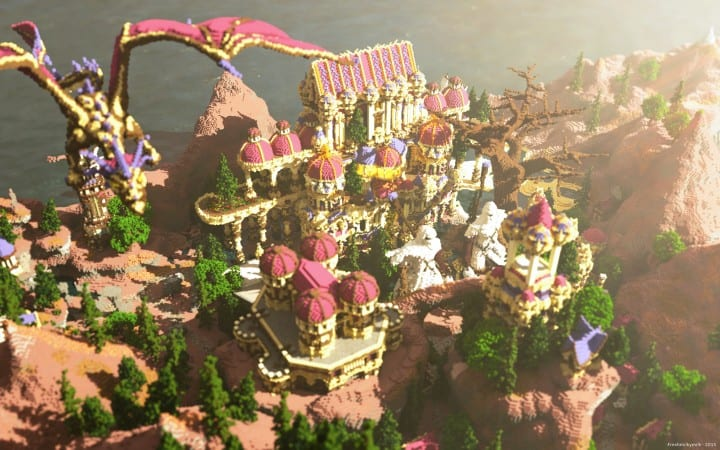 Niteal - The Lost Kingdom McBcon minecraft building castle idea amazing how download sea