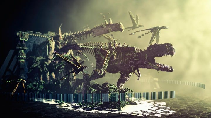 Primal Portal - Steampunk Dinosaurs minecraft building download t-rex bird