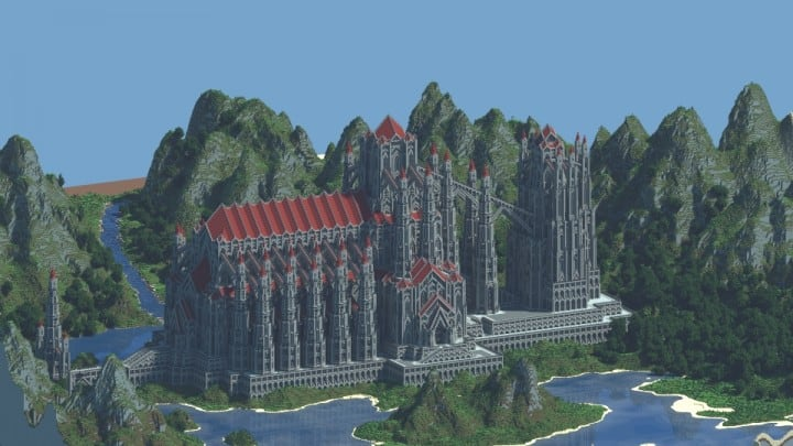 castle of red minecraft building ideas download massive huge amazing bridge 2