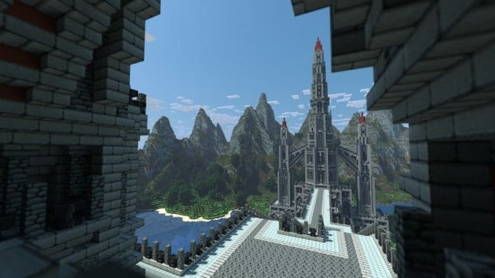 castle of red minecraft building ideas download massive huge amazing bridge 5