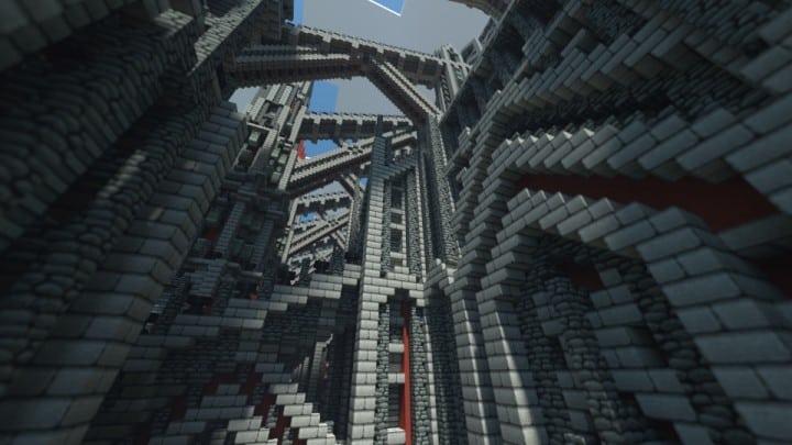 castle of red minecraft building ideas download massive huge amazing bridge 6