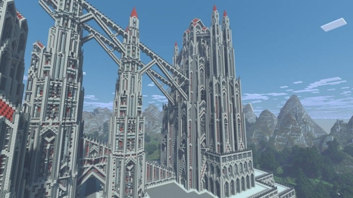 castle of red minecraft building ideas download massive huge amazing bridge 8