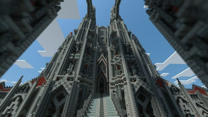 Castle Of Red Minecraft Building Inc