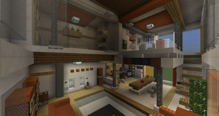 City Vibe Retro Modern Penthouse minecraft builds interior amazing ideas 2