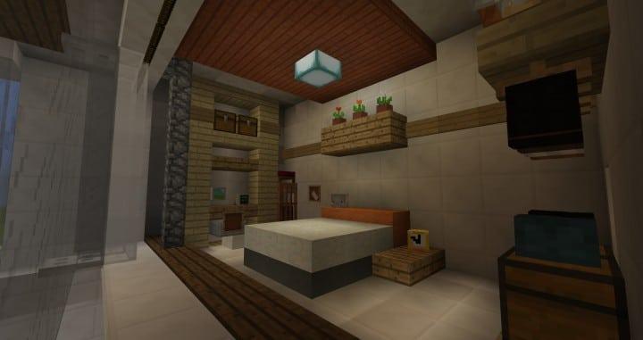 City Vibe Retro Modern Penthouse minecraft builds interior amazing ideas 4