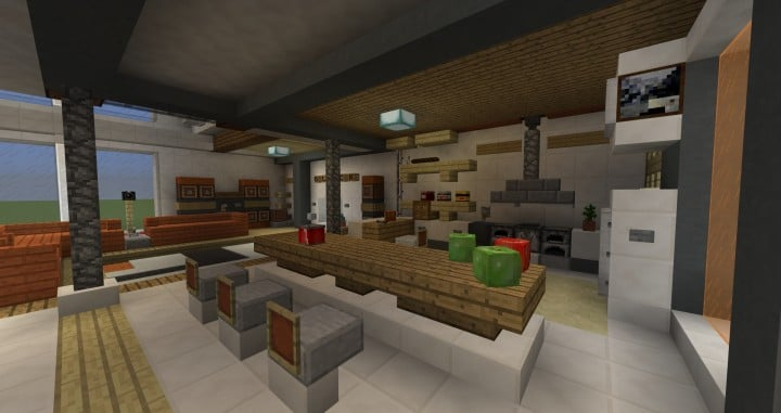 City vibe retro modern penthouse minecraft building inc for Modern house interior design minecraft