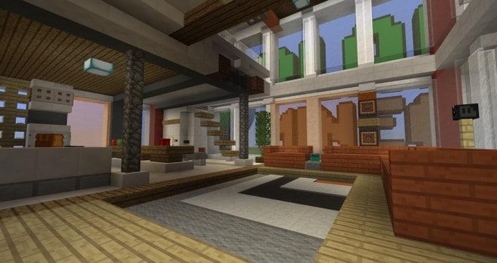 City Vibe Retro Modern Penthouse minecraft builds interior amazing ideas 6