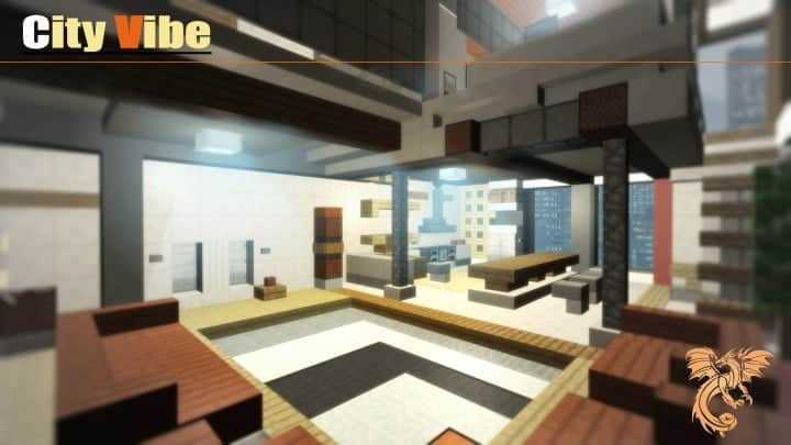 City Vibe Retro Modern Penthouse minecraft builds interior amazing ideas