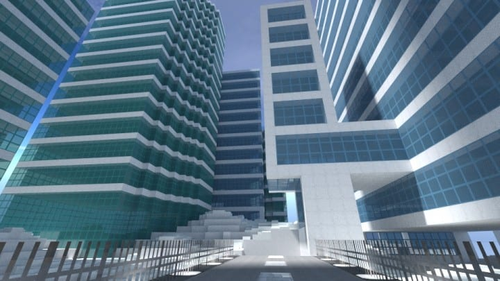 City on the cloud minecraft building ideas download skyscraper tall office 4