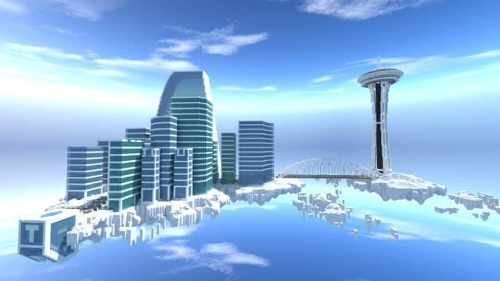 City on the cloud minecraft building ideas download skyscraper tall office