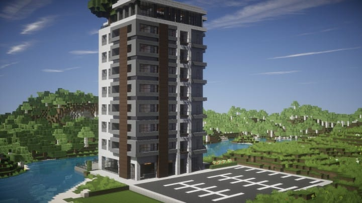 High Rise Apartment Design Exterior modern luxury high rise building – minecraft building inc