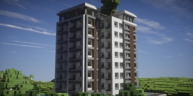 Modern Luxury High Rise Building Minecraft Inc