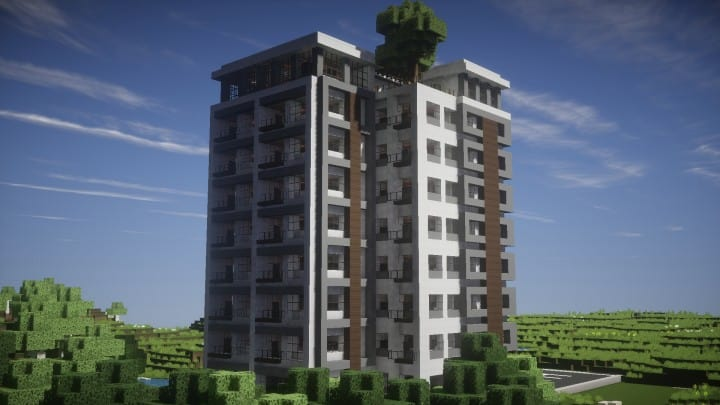 Modern luxury high rise building minecraft building inc for Modern high rise building design