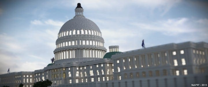 Washington DC Capitol minecraft building ideas realistic amazing download save 3