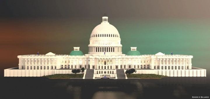 Washington DC Capitol minecraft building ideas realistic amazing download save 4