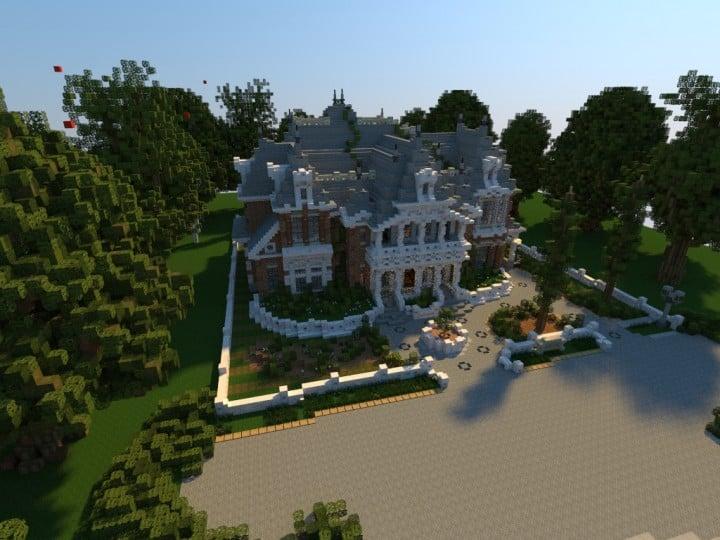 Renaissance Manor minecraft building ideas download plantation house
