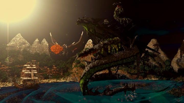 Sauzelor's World by Bedporsche DeepAcademy minecraft building ideas fantasy download dragon