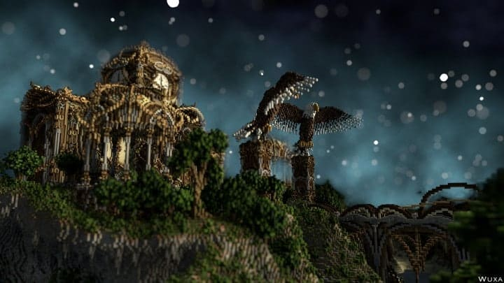 Sauzelor's World by Bedporsche DeepAcademy minecraft building ideas fantasy download eagle