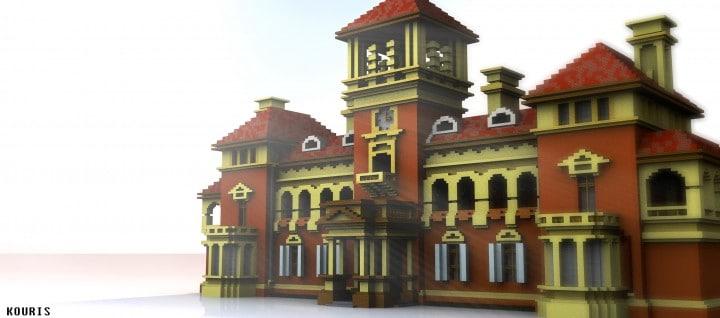 Thomas Walker Convalescent Hospital minecraft inspiration brick