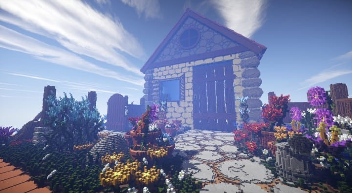 Humble Homestead minecraft building download save schematic cottage home 5