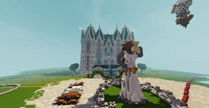 PineVale Mansion fantasy house minecraft building ideas world save download 12