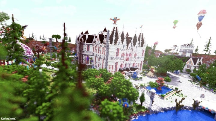 PineVale Mansion fantasy house minecraft building ideas world save download 3