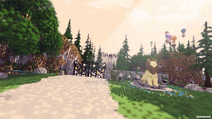 PineVale Mansion fantasy house minecraft building ideas world save download 4