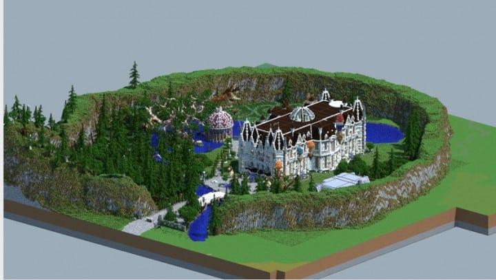 PineVale Mansion fantasy house minecraft building ideas world save download 7