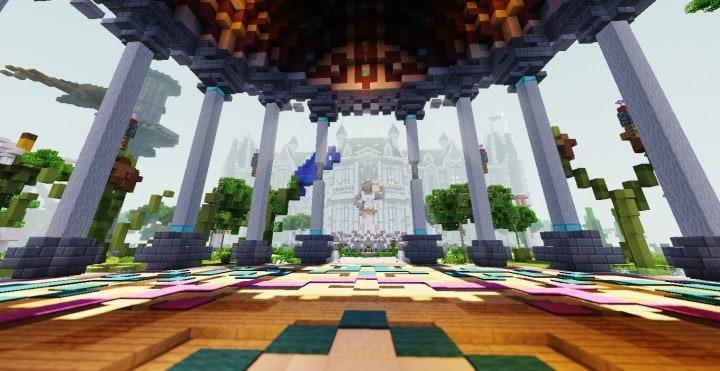 PineVale Mansion fantasy house minecraft building ideas world save download 9