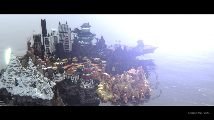 The Eighth Hour minecraft building ideas island city town story download save 3