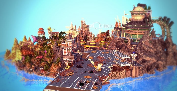 The Eighth Hour minecraft building ideas island city town story download save 7
