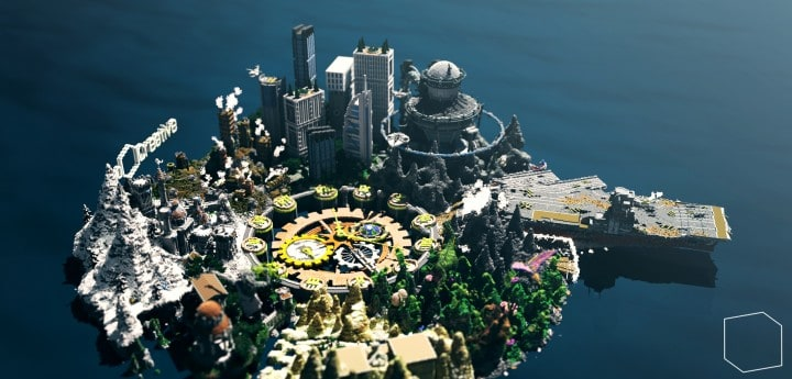 The Eighth Hour minecraft building ideas island city town story download save 8