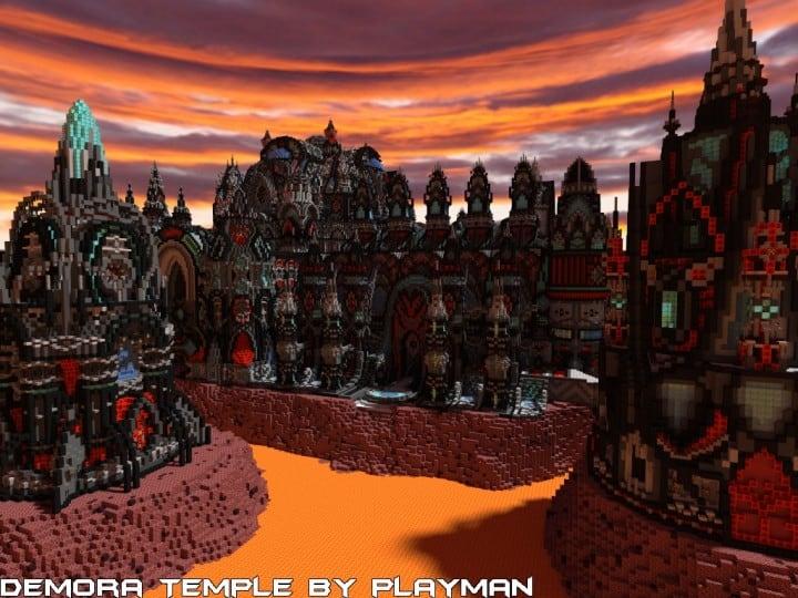 Demora Temple minecraft building ideas inspiraiton amazing crazy huge download save 2