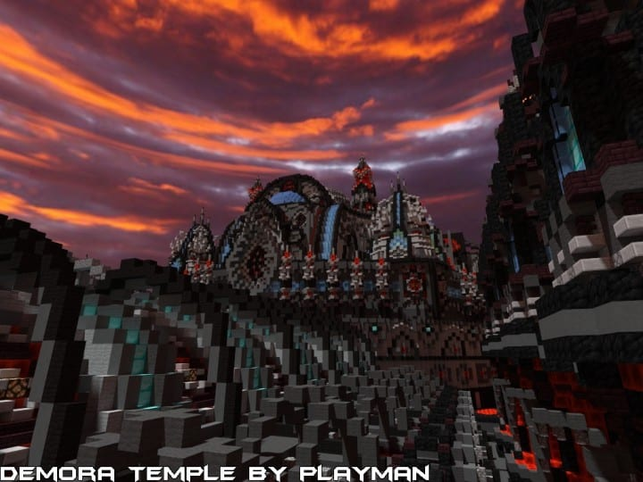 Demora Temple minecraft building ideas inspiraiton amazing crazy huge download save 4
