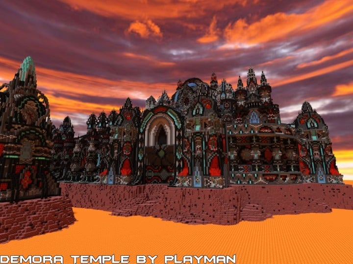 Demora Temple minecraft building ideas inspiraiton amazing crazy huge download save 6