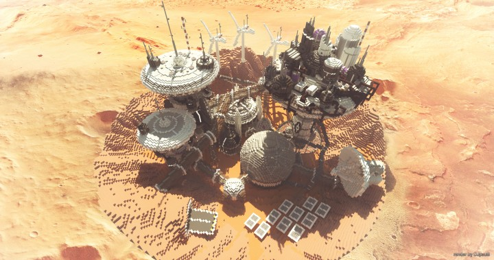 Mars Complex Foxtrot minecraft building ideas download planet space contect nasa 2