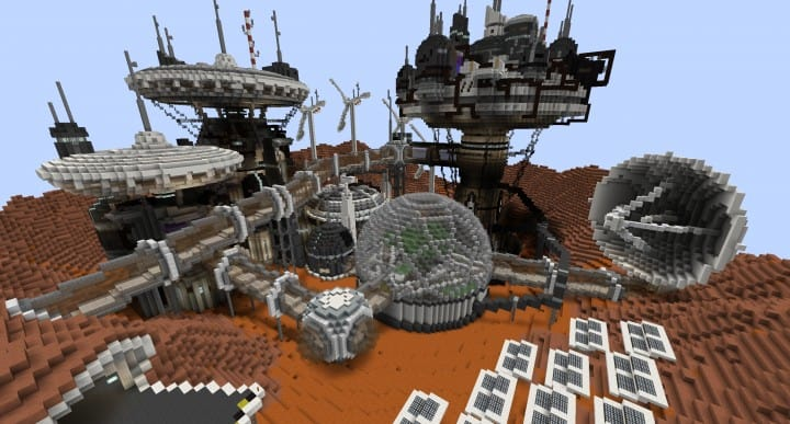 Mars Complex Foxtrot minecraft building ideas download planet space contect nasa 3