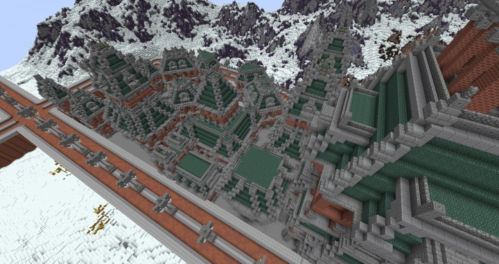 The Northin City by team Glassman minecraft building ideas download save amazing complete finished 12
