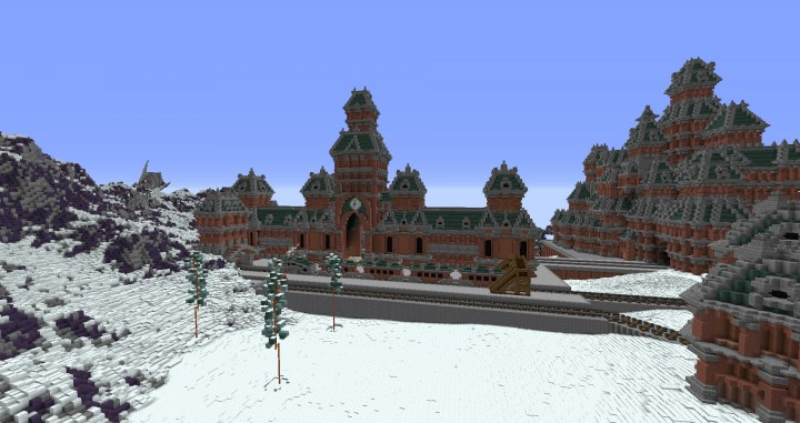 The Northin City by team Glassman minecraft building ideas download save amazing complete finished 14