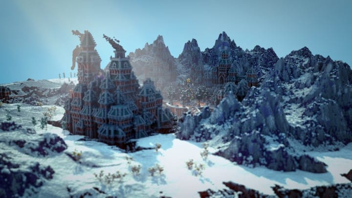 The Northin City by team Glassman minecraft building ideas download save amazing complete finished 2