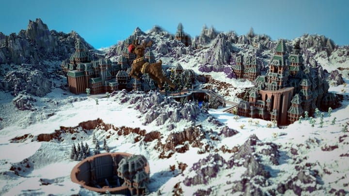 The Northin City by team Glassman minecraft building ideas download save amazing complete finished 3