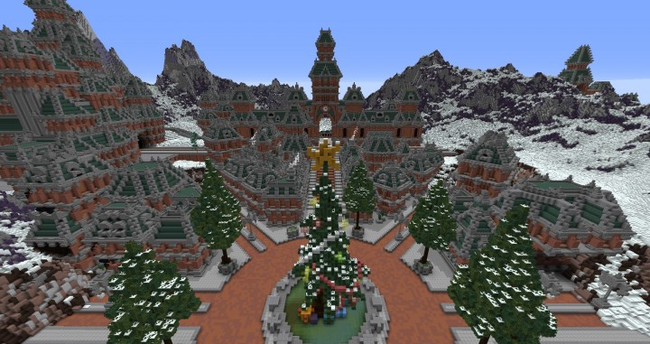 The Northin City by team Glassman minecraft building ideas download save amazing complete finished 5
