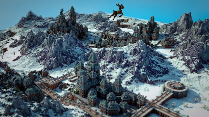 The Northin City by team Glassman minecraft building ideas download save amazing complete finished