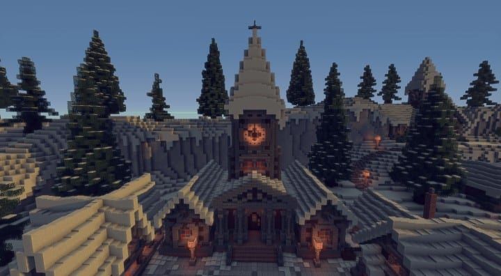 Twisted Christmas village minecraft building idea holiday gift present tree cottage giner bread houses town center 2
